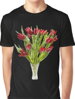 cut tulips bouquet in glass vase Graphic T-Shirt
