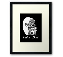 Fallout Dad (Black) Framed Print