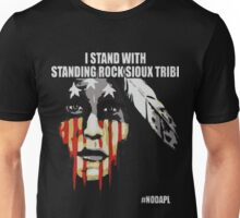 Native american, standing with rock Unisex T-Shirt