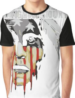 Native american, standing with rock Graphic T-Shirt
