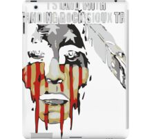 Native american, standing with rock iPad Case/Skin