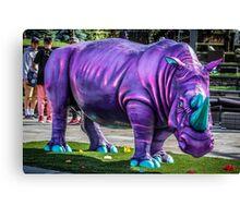 Purple Rhino Canvas Print