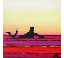 Glide Girl's Magenta Morn Photographic Print