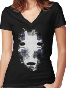 No-Face (Kaonashi)  Women's Fitted V-Neck T-Shirt