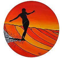 Glide Girl ~ on Summer Static vinyl Photographic Print