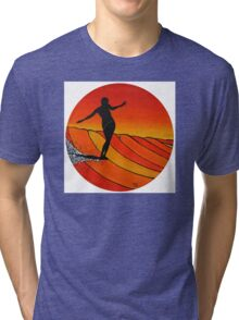 Glide Girl ~ on Summer Static vinyl Tri-blend T-Shirt
