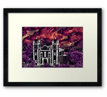 Fantasy Tropical Cityscape Aerial View Framed Print