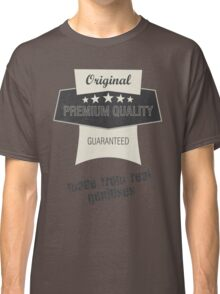 """Vintage graphic """"Made from real geniuses"""" Classic T-Shirt"""