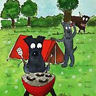 Kerry Blue Terrier Dogs  'Kerry Blue Campers' by archyscottie