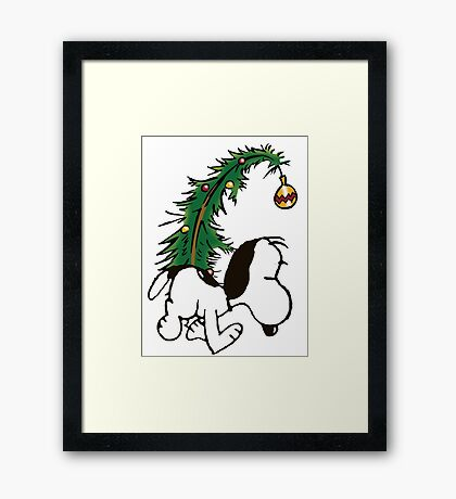 snoopy in christmas Framed Print
