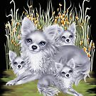 Mama Chihuahua and her babies  by LoneAngel