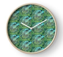 Mandala Green Bokeh Clock