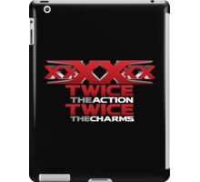 xxXXxx Twice The Action Twice The Charms Sextuple Secret Agent  Movie Lover T-Shirt Design iPad Case/Skin