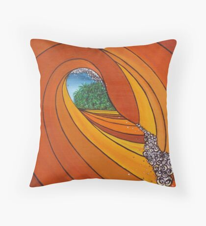 Passage To Paradise Throw Pillow