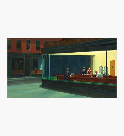Vintage Edward Hopper Nighthawks Diner Photographic Print