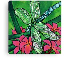 Dragonfly In Pink Canvas Print