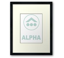 Team Alpha 2 Framed Print