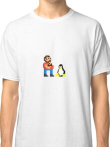 Tux and some linux guy Classic T-Shirt