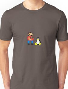 Tux and some linux guy Unisex T-Shirt