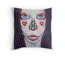 Perfectly flawed Throw Pillow
