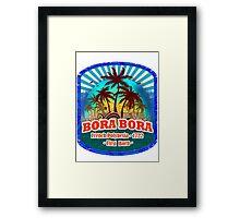 Sunset Bora Bora Framed Print