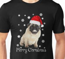 Ugly Christmas Sweater T-Shirt, Funny Pug Dog Lovers Gift Unisex T-Shirt