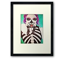 rock 'til you die Framed Print