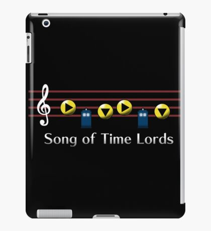 Song of Time Lords iPad Case/Skin