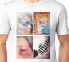 Four painted mannequins - tiled arrangement Unisex T-Shirt