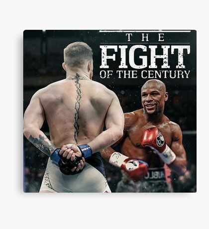 Conor McGregor / Floyd Mayweather - Fight of the Century Canvas Print