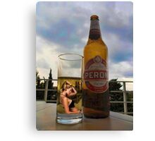 I DON'T REMEMBER ..I DON'T RECALL..I HAVE NO MEMORY OF IT AT ALL>>THATS JUST DRINKIN THINKIN>>BEER PICTURE /CARD Canvas Print