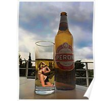 I DON'T REMEMBER ..I DON'T RECALL..I HAVE NO MEMORY OF IT AT ALL>>THATS JUST DRINKIN THINKIN>>BEER PICTURE /CARD Poster