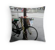 Decorated Bicycle, Melbourne CBD Throw Pillow