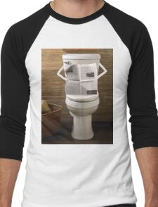 Toilet paper Men's Baseball ¾ T-Shirt