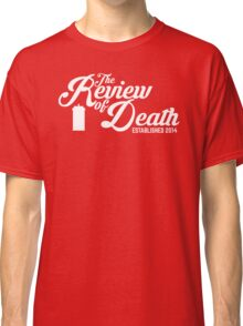 'The Review of Death' Vintage Swirl Logo Classic T-Shirt