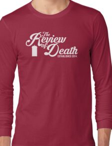 'The Review of Death' Vintage Swirl Logo Long Sleeve T-Shirt