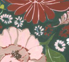 Dark Floral Tapestry Sticker