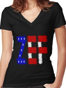 ZEF Women's Fitted V-Neck T-Shirt