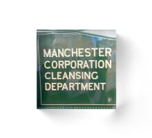 Manchester Corporation Cleansing Dpartment Acrylic Block