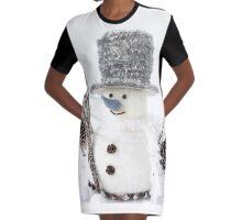 Snowman Graphic T-Shirt Dress