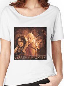 Game Of Thrones   John Snow, DaenerysTargaryen, Tyrion Lannister Women's Relaxed Fit T-Shirt