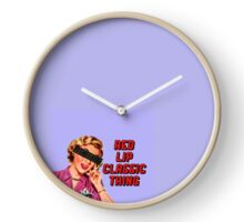 red lip classic thing Clock