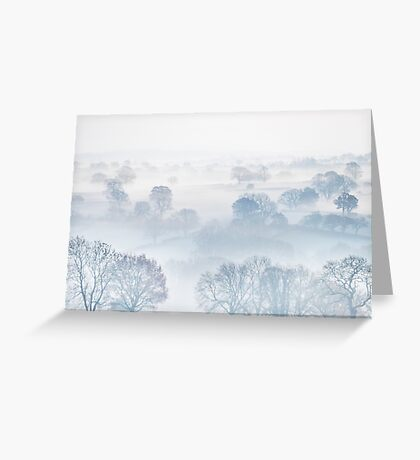 Ethereal Morning Mist Greeting Card