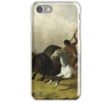 John Mix Stanley - Buffalo Hunt On The Southwestern Prairies. Hunter painting: hunting man, nature, male, forest, wild life, masculine, dogs, hunt, manly, hunters men, hunter iPhone Case/Skin