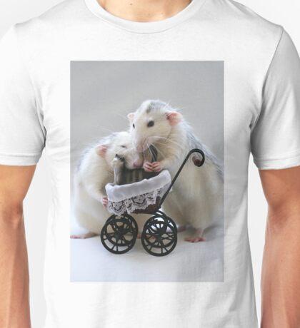 Babysitting the cat. Unisex T-Shirt