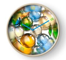Coloured glass balls marbles Clock