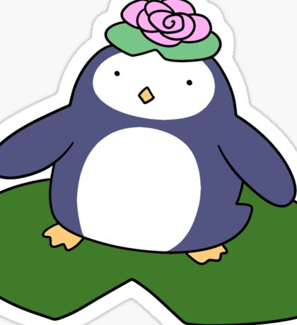 Lily Pad Penguin Sticker