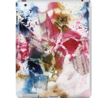 Blue, Pink and brown abstract  iPad Case/Skin