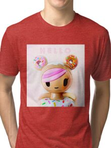 Hello Kawaii Tri-blend T-Shirt