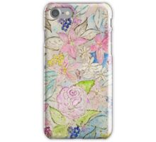 Watercolor and gold floral hand paint design iPhone Case/Skin